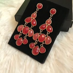 Jewelry - Just In🔸Bold Faceted Chandelier Earrings In Coral